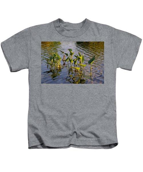 Lillies In Evening Glory Kids T-Shirt