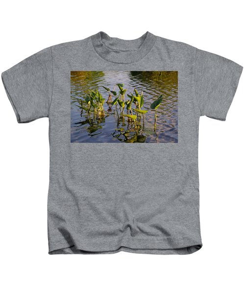 Lillies In Evening Glory Kids T-Shirt