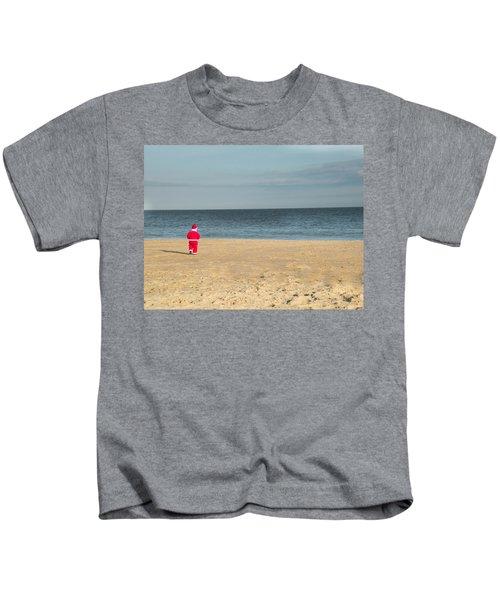 Little Santa On The Beach Kids T-Shirt