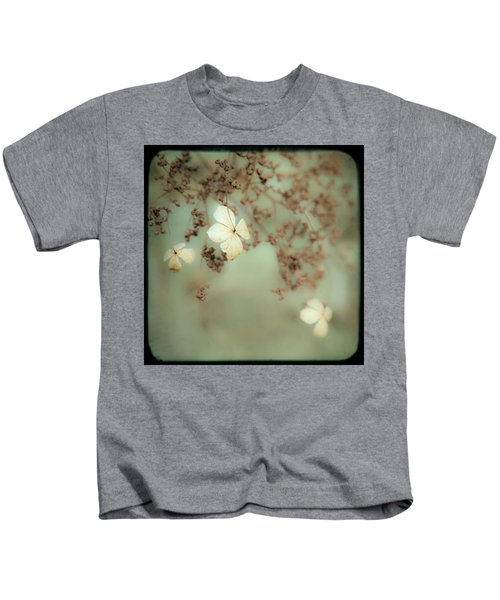 Little White Flowers - Floral - The Little Things In Life Kids T-Shirt