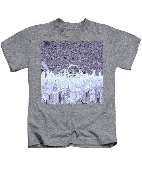 London Skyline Abstract 10 Kids T-Shirt