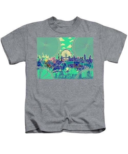 London Skyline Vintage 2 Kids T-Shirt