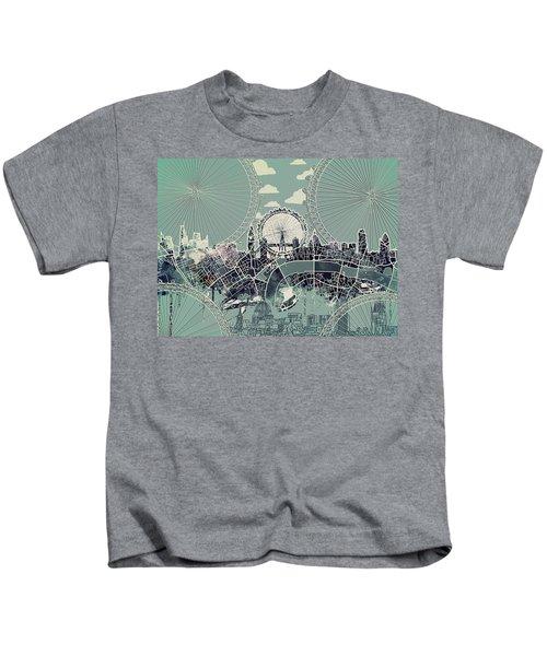 London Skyline Vintage Kids T-Shirt