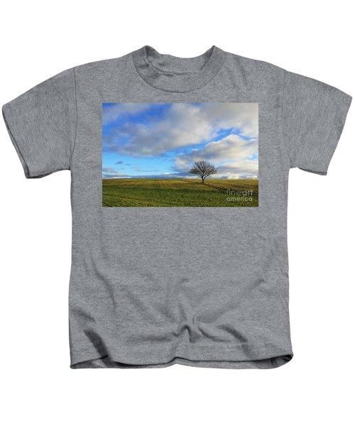 Lone Tree At Epsom Downs Uk Kids T-Shirt