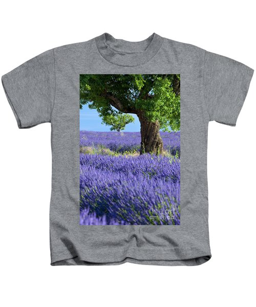 Lone Tree In Lavender Kids T-Shirt