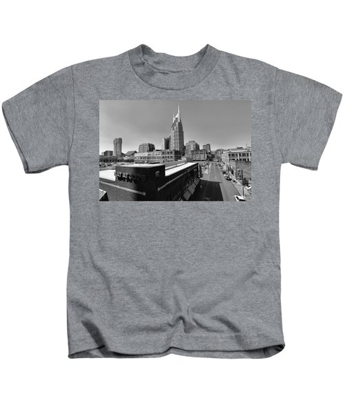Looking Down On Nashville Kids T-Shirt by Dan Sproul