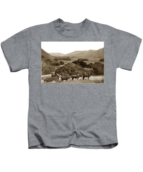 Looking Up The Carmel Valley California Circa 1880 Kids T-Shirt