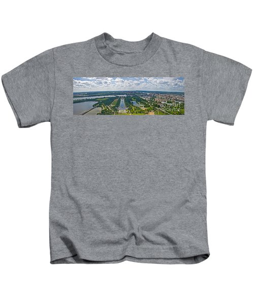 Looking West From The Washington Monument Kids T-Shirt