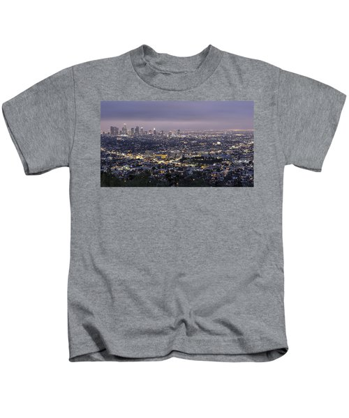 Los Angeles At Night From The Griffith Park Observatory Kids T-Shirt