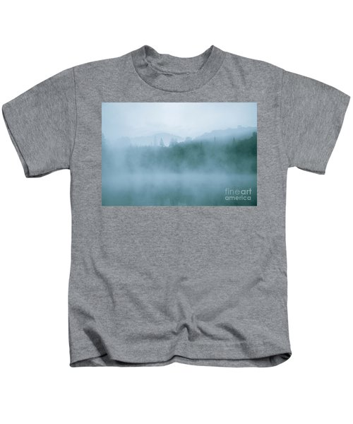 Lost In Fog Over Lake Kids T-Shirt