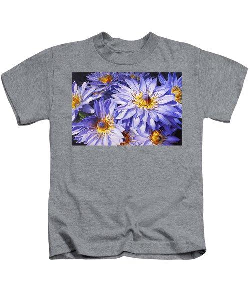 Lotus Light - Hawaiian Tropical Floral Kids T-Shirt