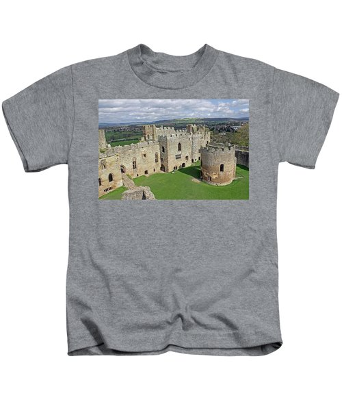 Ludlow Castle Chapel And Great Hall Kids T-Shirt