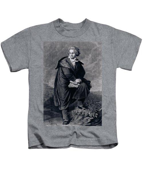 Ludwig Van Beethoven , German Composer Kids T-Shirt