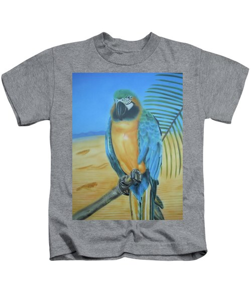 Macaw On A Limb Kids T-Shirt
