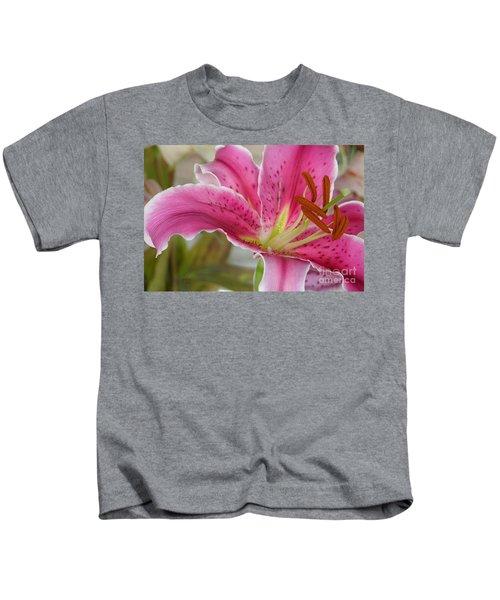 Magenta Tiger Lily Kids T-Shirt