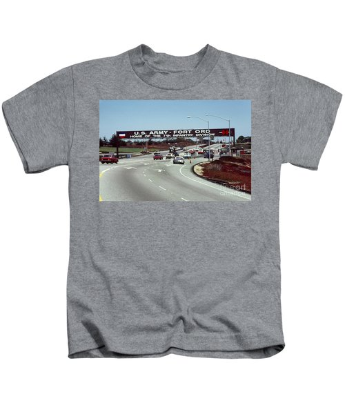 Main Gate 7th Inf. Div Fort Ord Army Base Monterey Calif. 1984 Pat Hathaway Photo Kids T-Shirt