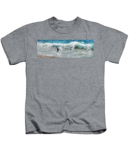 Man Vs Wave Kids T-Shirt