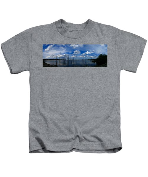 Manasquan Reservoir Panorama Kids T-Shirt