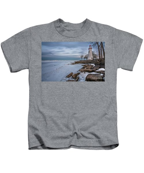 Marblehead Lighthouse  Kids T-Shirt by James Dean