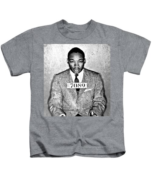 Martin Luther King Mugshot Kids T-Shirt