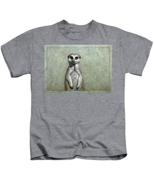 Meerkat Kids T-Shirt by James W Johnson
