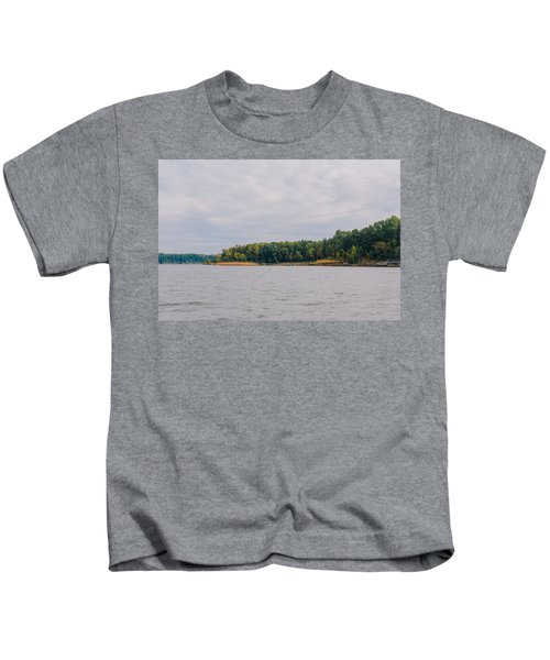 Men Fishing On Barren River Lake Kids T-Shirt