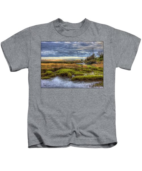 Merrimack River Marsh Kids T-Shirt