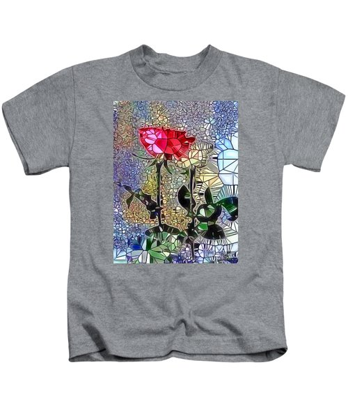 Metalic Rose Kids T-Shirt