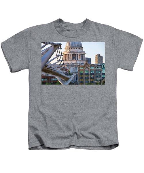 Millennium Bridge And St Pauls Cathedral 5410 Kids T-Shirt
