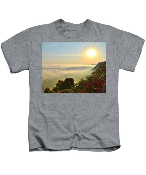 Mississippi River Fog Kids T-Shirt