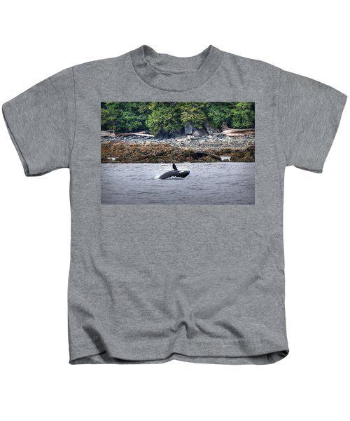 Misty Fjords Orca Kids T-Shirt