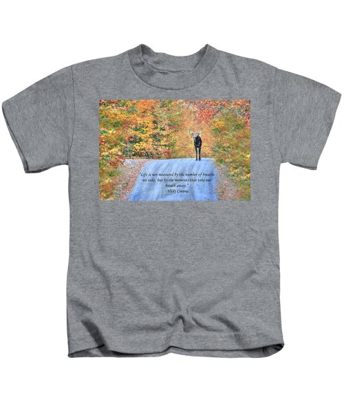 Moments That Take Our Breath Away Kids T-Shirt