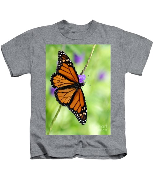 Monarch Butterfly In Spring Kids T-Shirt