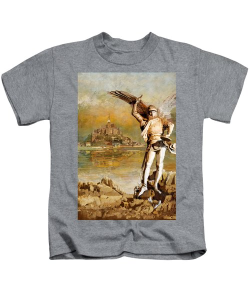 Mont-saint-michel And Its Bay Kids T-Shirt