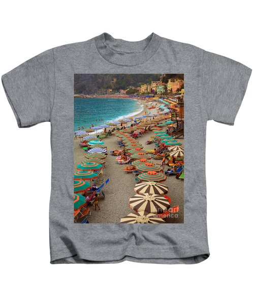 Monterosso Beach Kids T-Shirt
