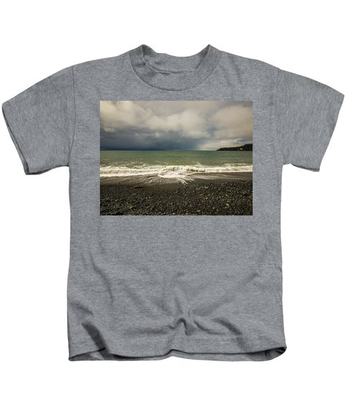 Moody Swirl French Beach Kids T-Shirt
