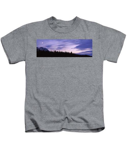 Moonrise Mt Moran Grand Teton National Kids T-Shirt