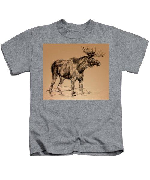 Moose Sketch Kids T-Shirt
