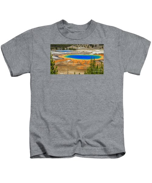 Grand Prismatic Geyser Yellowstone National Park Kids T-Shirt