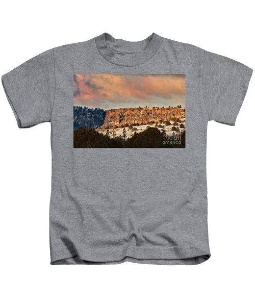 Morning Sun On The Ridge Kids T-Shirt