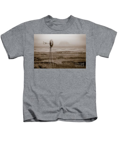 Morro Bay Windmill Kids T-Shirt