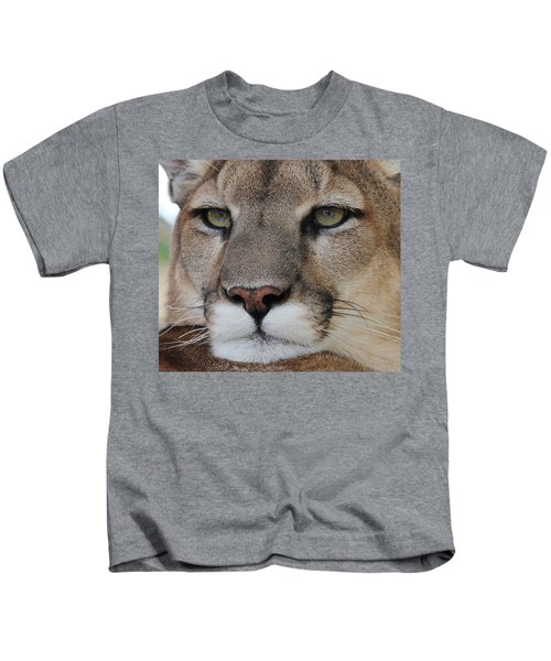 Mountain Lion Portrait 2 Kids T-Shirt