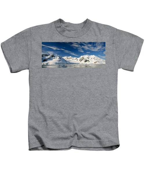 Mountains And Glaciers, Paradise Bay Kids T-Shirt
