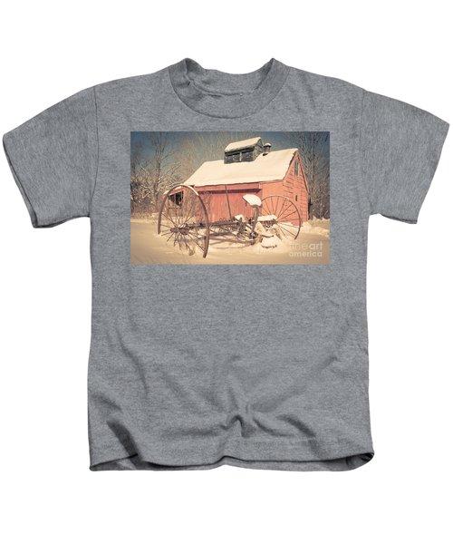 Mt. Cube Farm Old Sugar Shack Kids T-Shirt