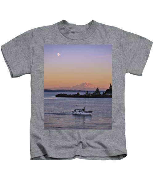 Mt. Rainier Afterglow Kids T-Shirt