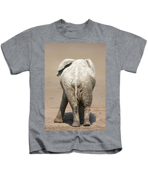 Muddy Elephant With Funny Stance  Kids T-Shirt