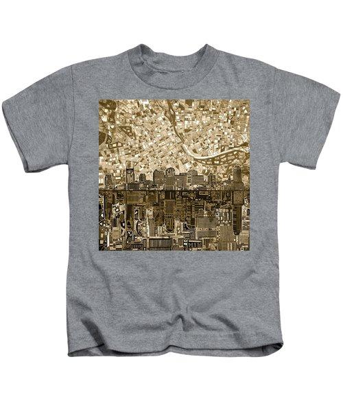 Nashville Skyline Abstract 6 Kids T-Shirt