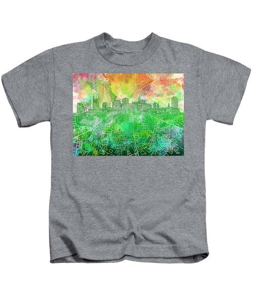 Nashville Skyline Watercolor 2 Kids T-Shirt