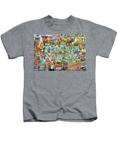 National Parks Of America Kids T-Shirt