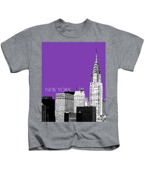 New York Skyline Chrysler Building - Purple Kids T-Shirt